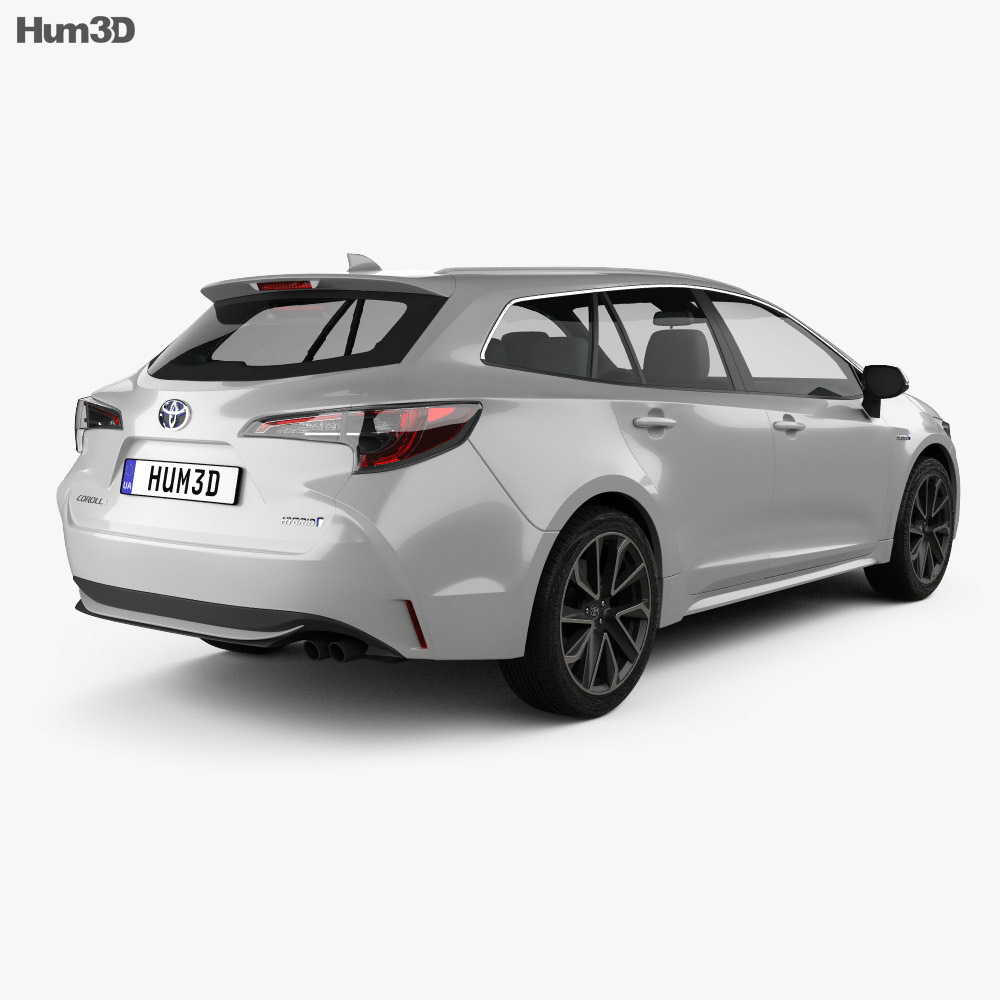 Toyota Corolla Touring Sports Hybrid 2019 3d model