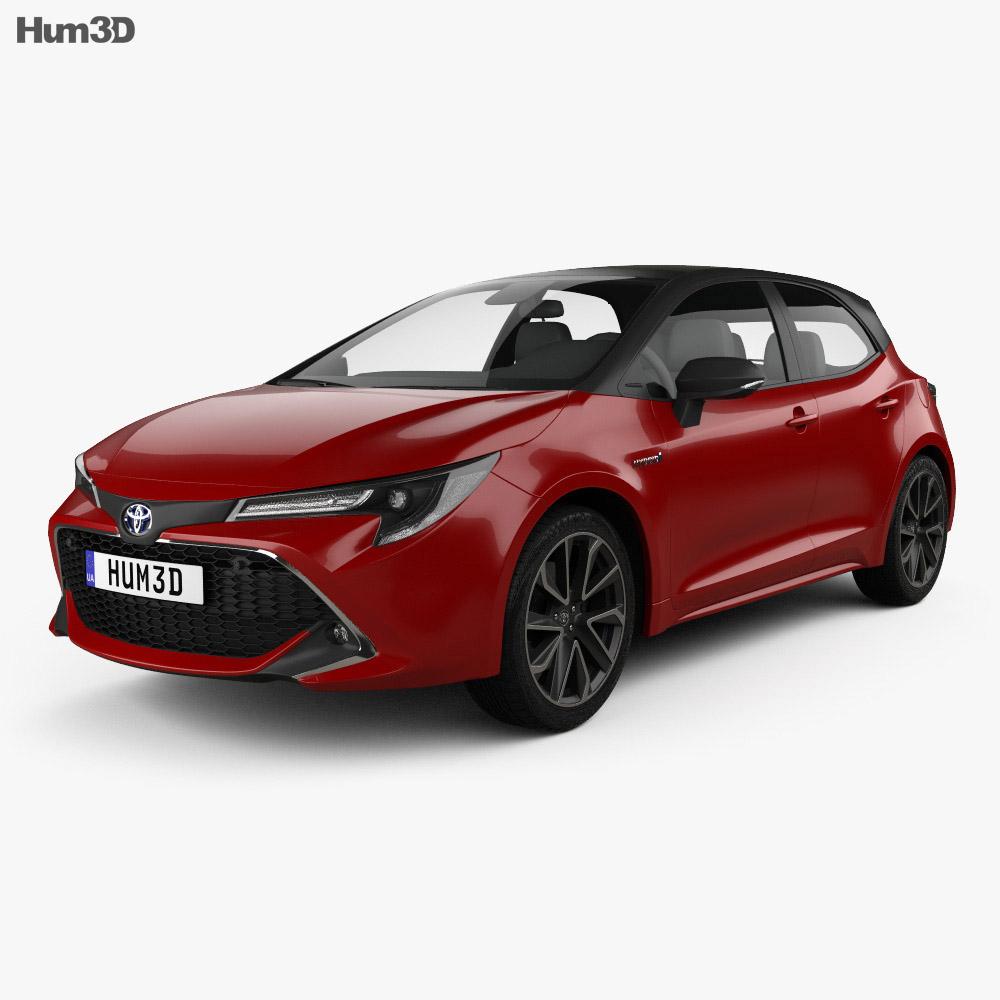 Toyota Corolla hatchback hybrid 2018 3d model