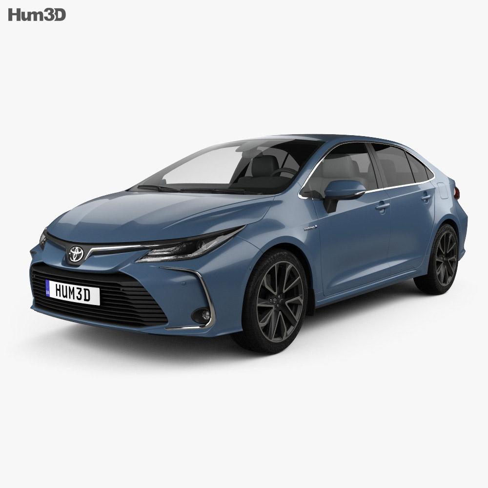 Toyota Corolla Hybrid sedan 2019 3d model