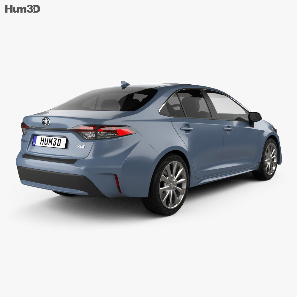 Toyota Corolla XLE US-spec sedan 2019 3d model