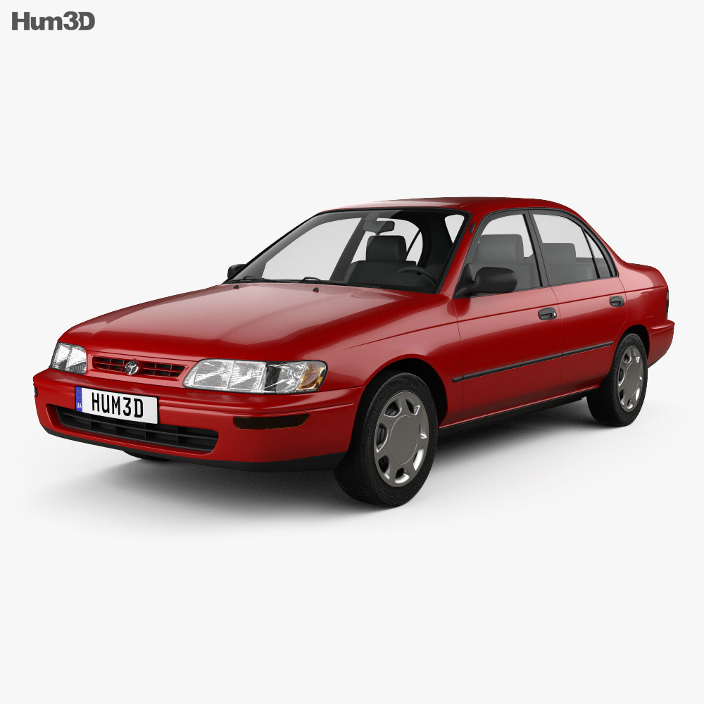 Toyota Corolla sedan 1995 3d model