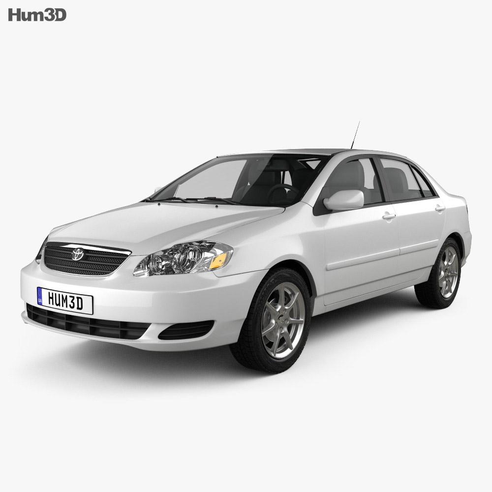 Toyota Corolla (E120) 2005 3d model
