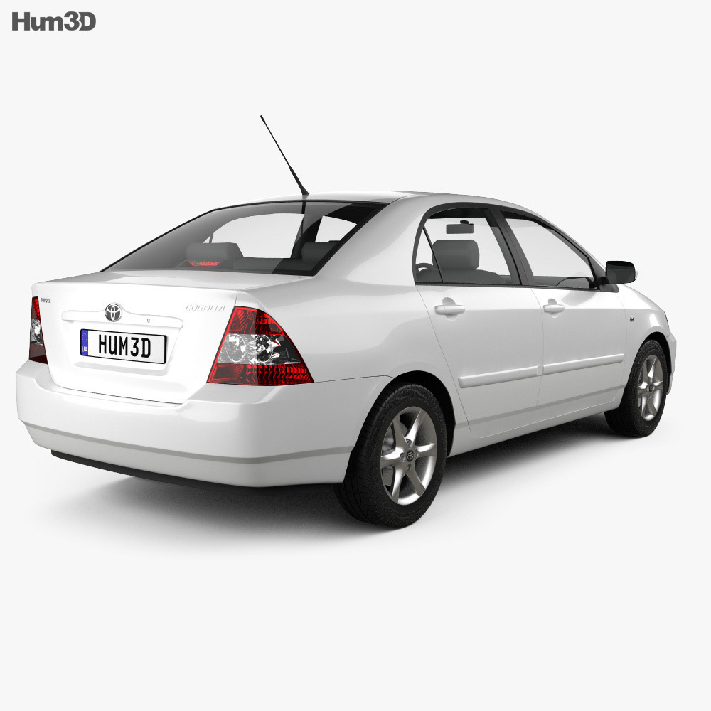 Toyota Corolla sedan 2004 3d model
