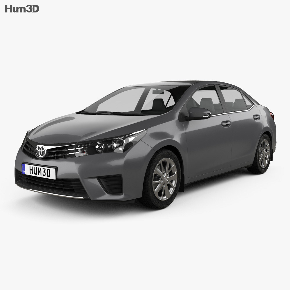 Toyota Corolla sedan 2014 3d model
