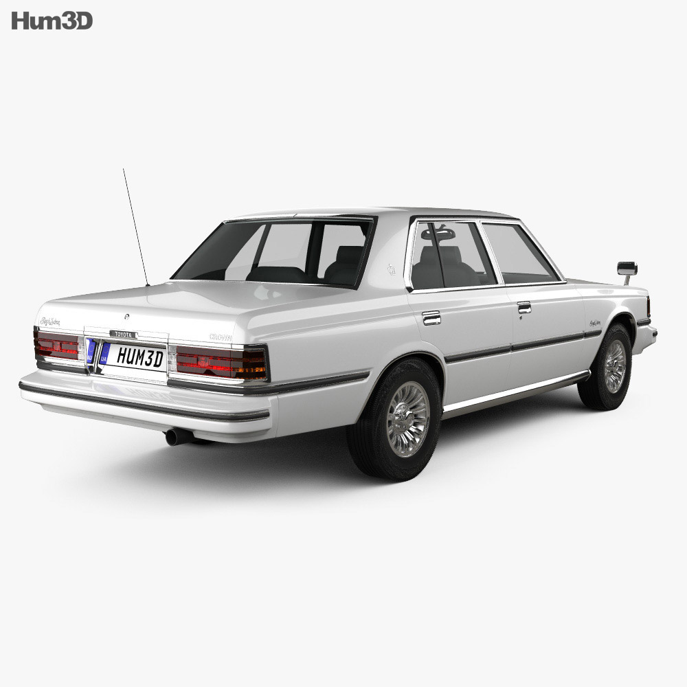 Toyota Crown sedan 1979 3d model