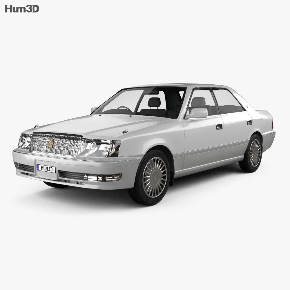 Toyota Crown hardtop 1997 3d model