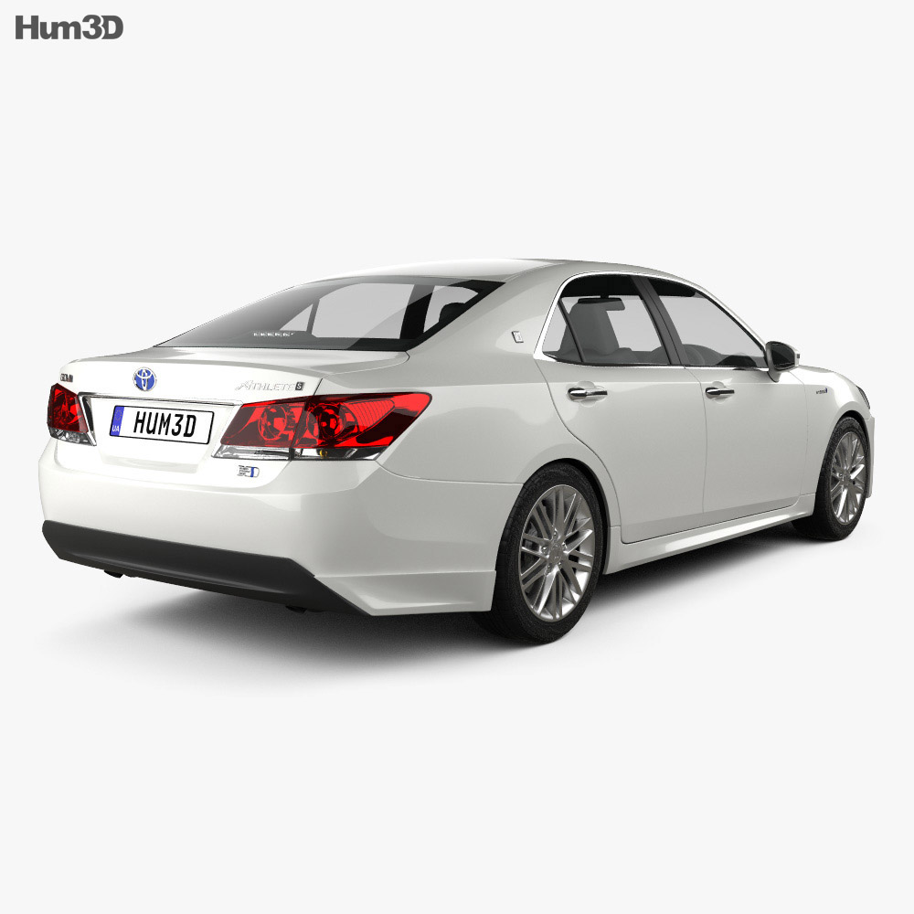 Toyota Crown Hybrid Athlete 2013 3d model