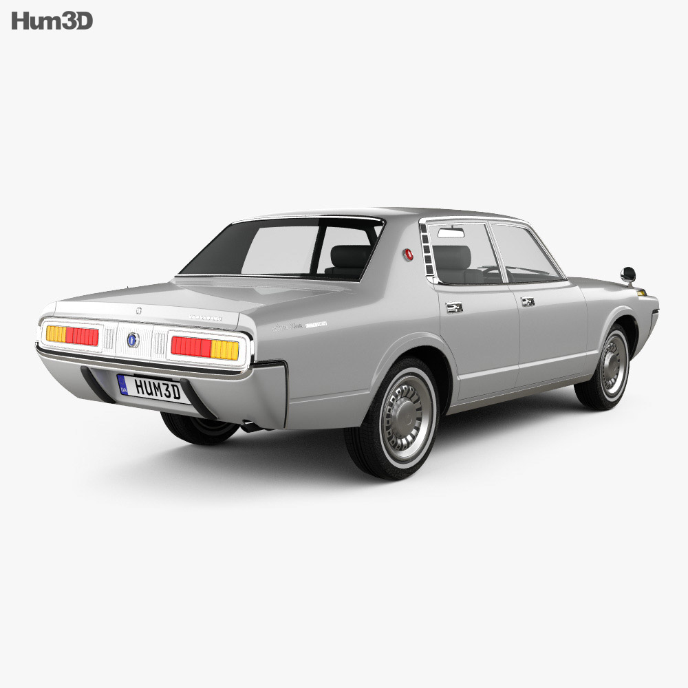 Toyota Crown sedan 1971 3d model