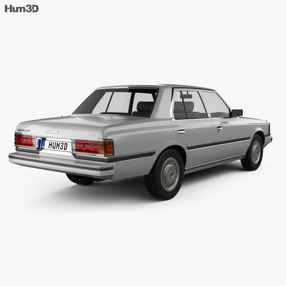 Toyota Crown (S110) Super Saloon 1982 Modèle 3d vue arrière
