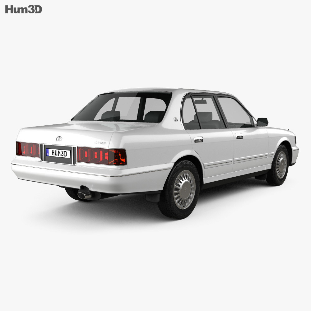 Toyota Crown 1991 3d model