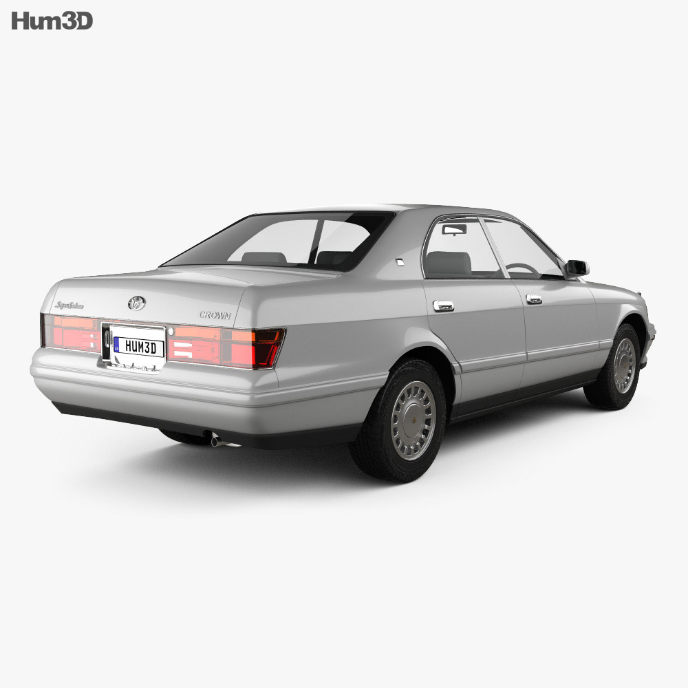 Toyota Crown 1993 3d model back view