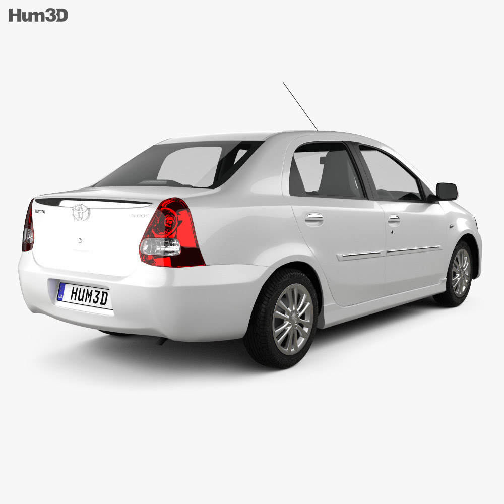 Toyota Etios 2012 3d model