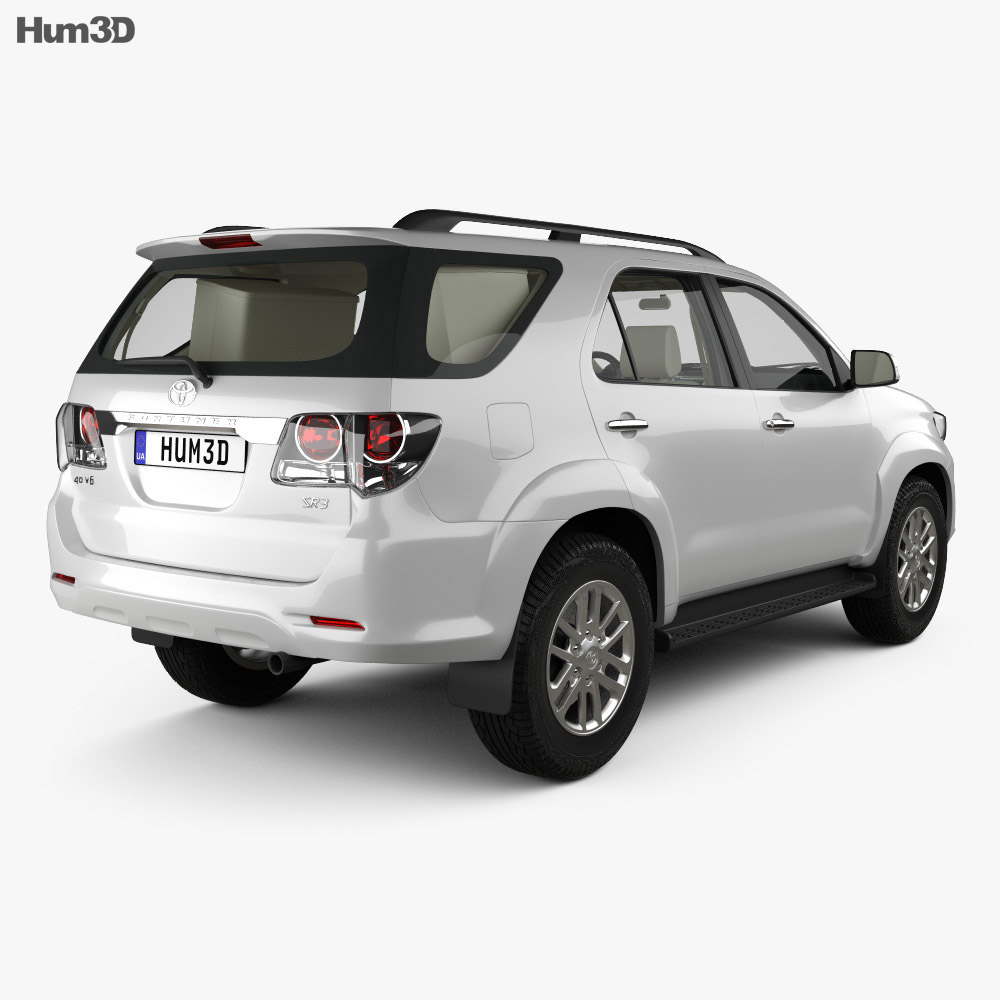 Toyota Fortuner with HQ interior 2013 3d model
