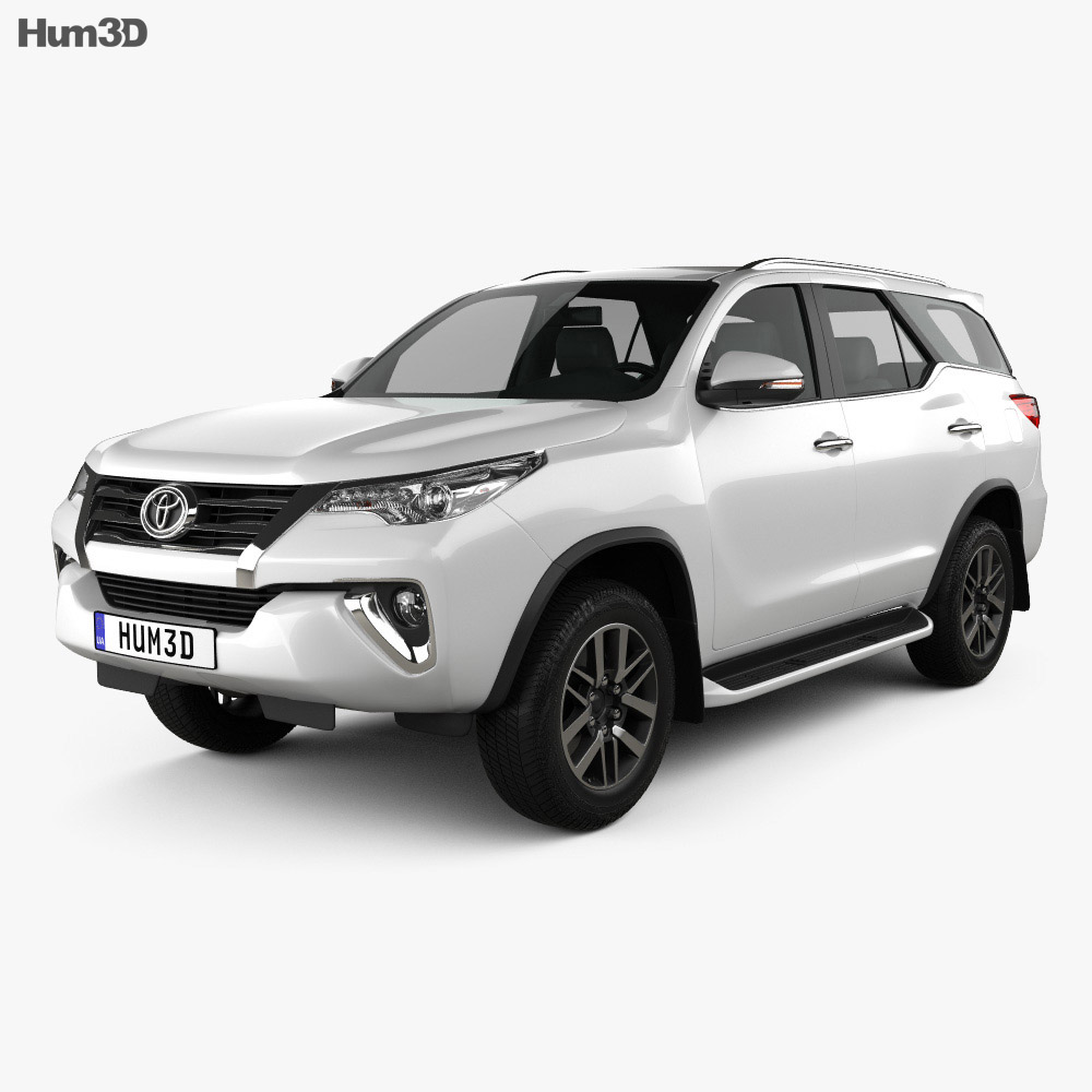Toyota Fortuner 2016 3d Model Humster3d