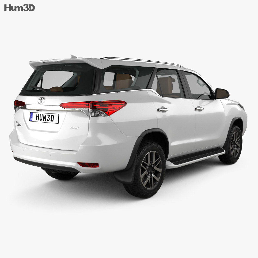 Toyota Fortuner with HQ interior 2016 3d model
