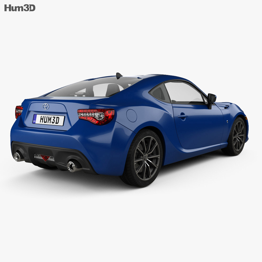 Toyota GT86 US-spec with HQ interior 2017 3d model