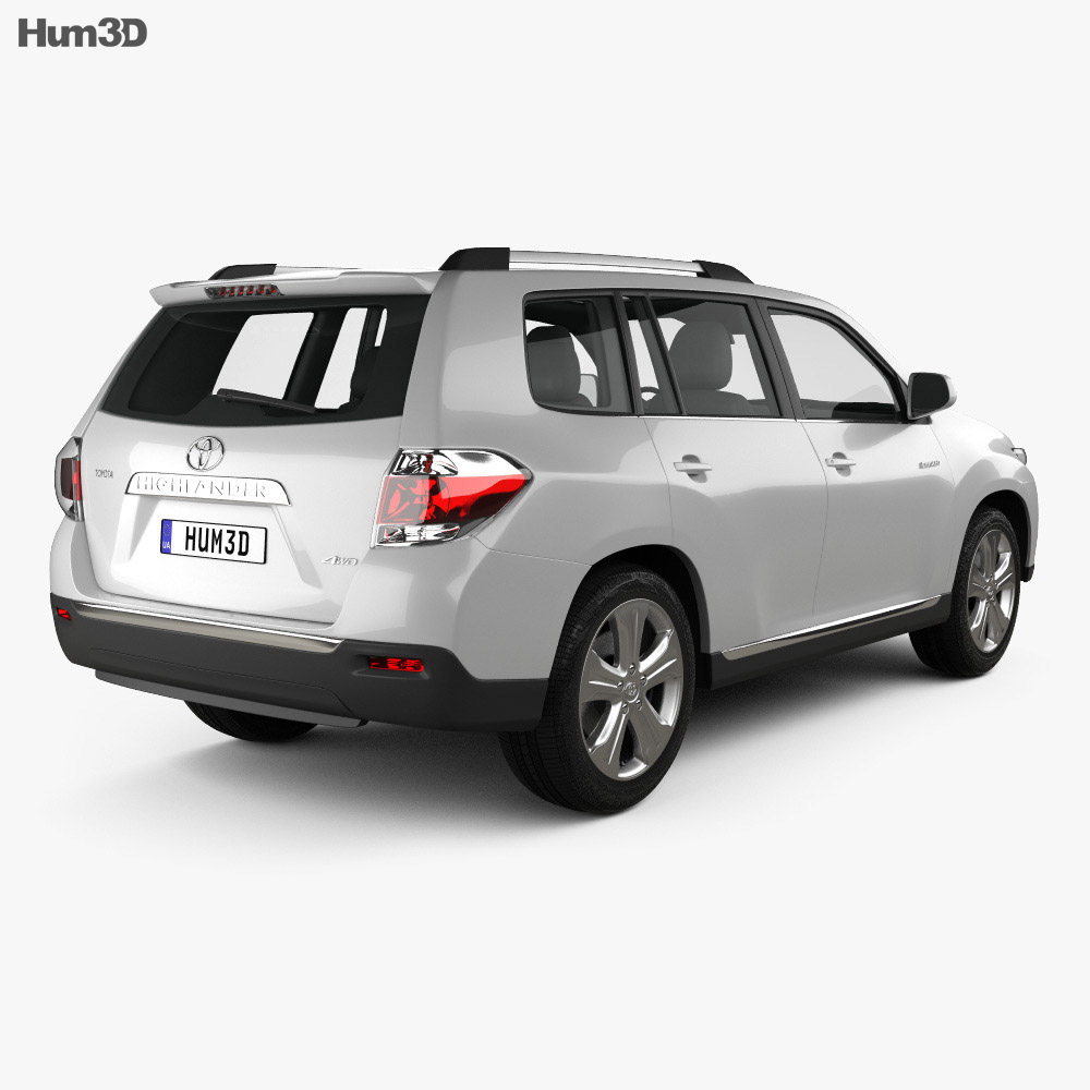 Toyota Highlander 2011 3d model