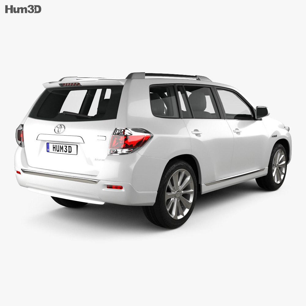 Pictures Of Toyota Highlander: Toyota Highlander (Kluger) Hybrid 2011 3D Model