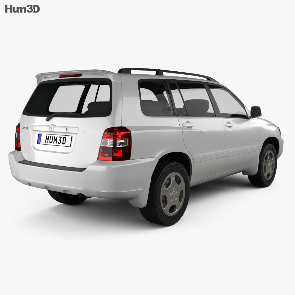 Toyota Highlander (XU20) 2003 3d model
