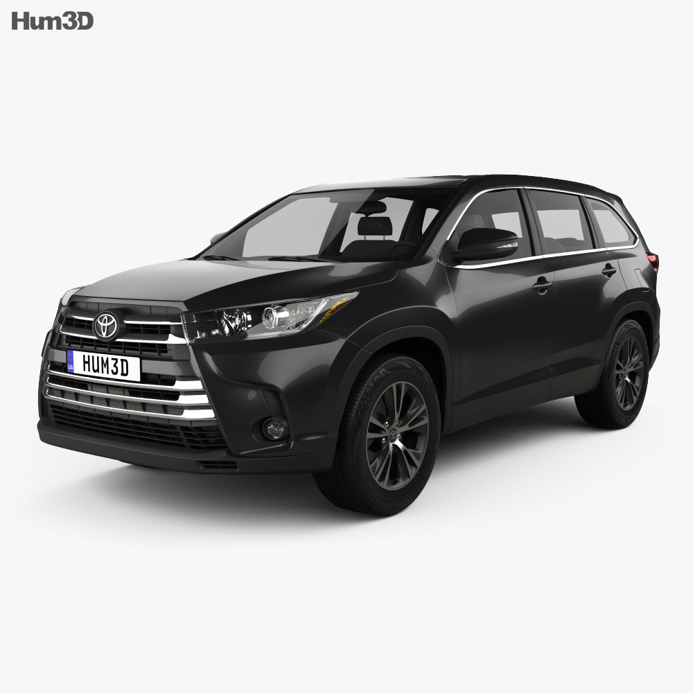 Toyota Highlander LEplus 2016 3d model