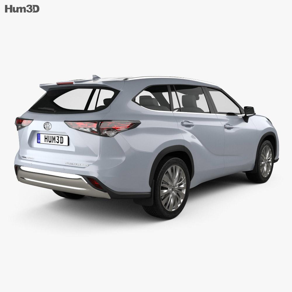 Toyota Highlander Platinum 2020 3d model