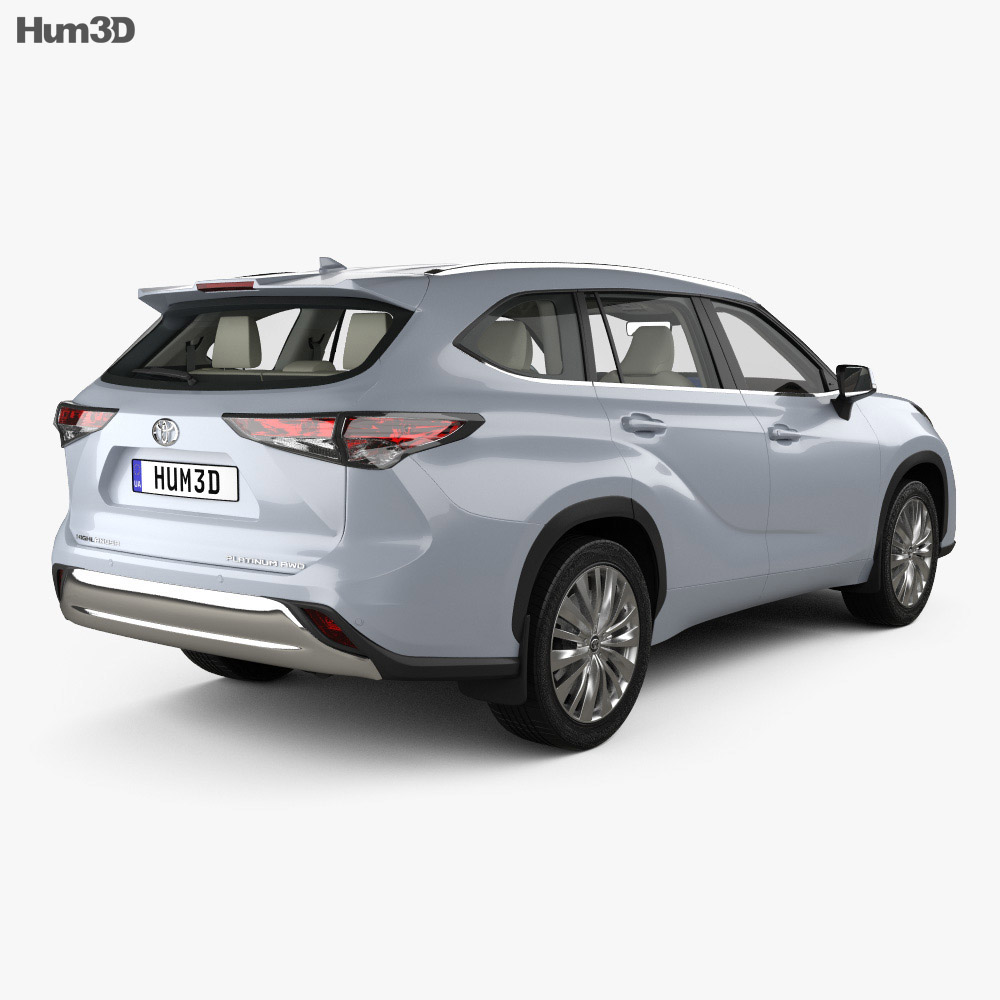Toyota Highlander Platinum with HQ interior 2020 3d model