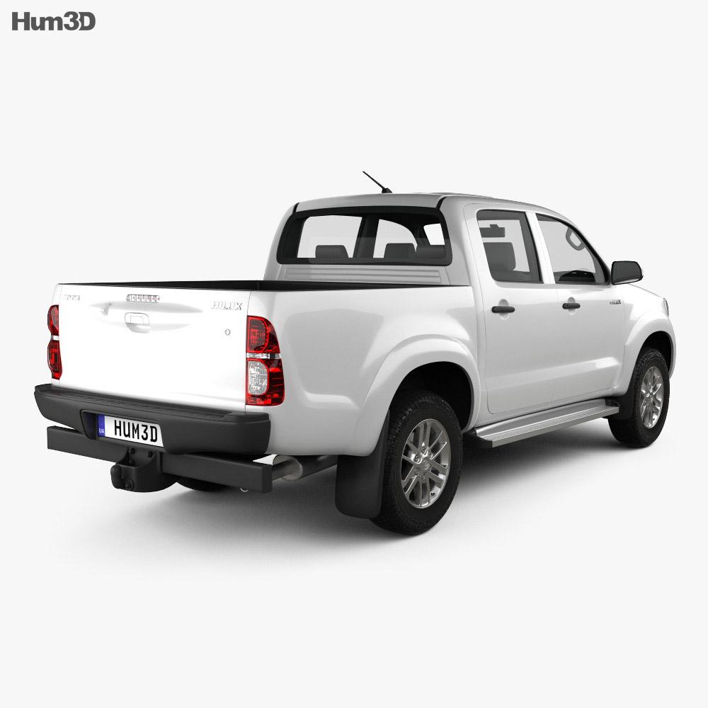 Toyota Hilux Double Cab 2012 3d model