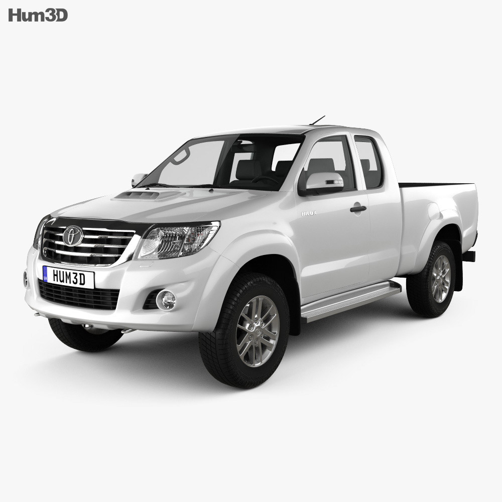 Toyota Hilux Extra Cab 2012 3d model