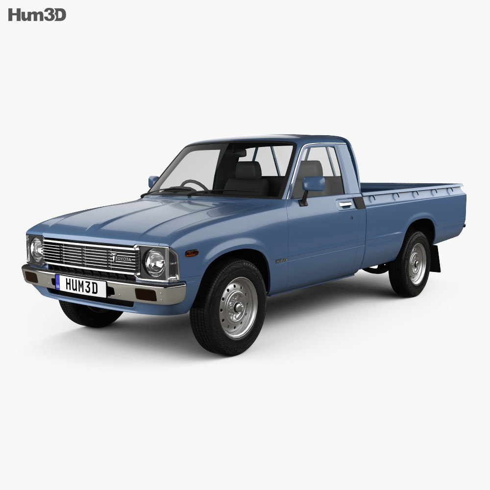 Toyota Hilux Regular Cab 1978 3d model