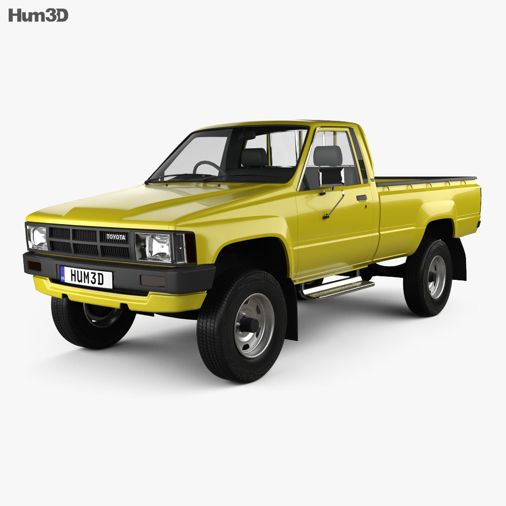 Toyota Hilux Dx Long Body 1983 3d Model Humster3d