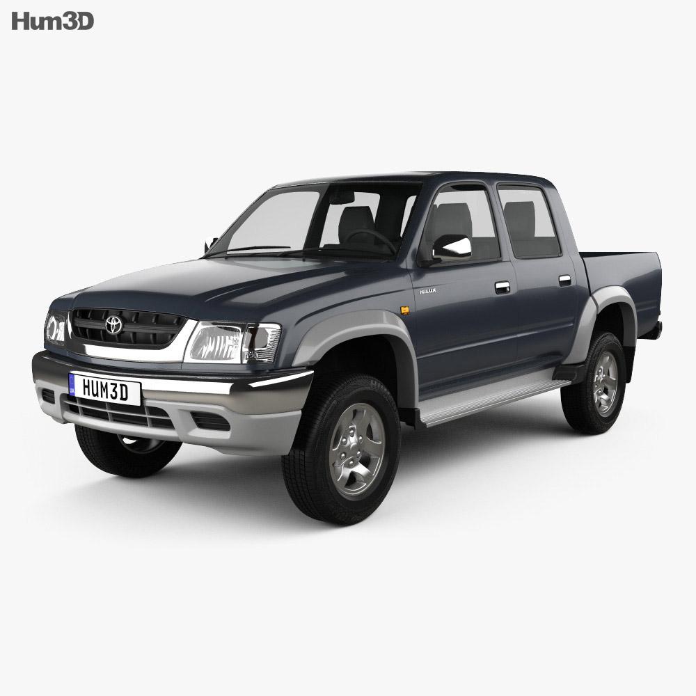 Toyota Hilux Double Cab 2001 3d model