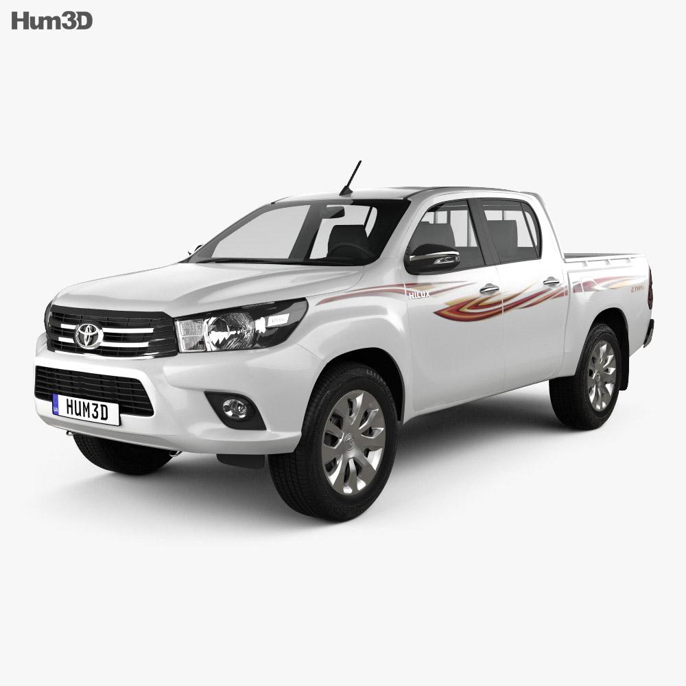 Toyota Hilux Double Cab GLX 2015 3d model