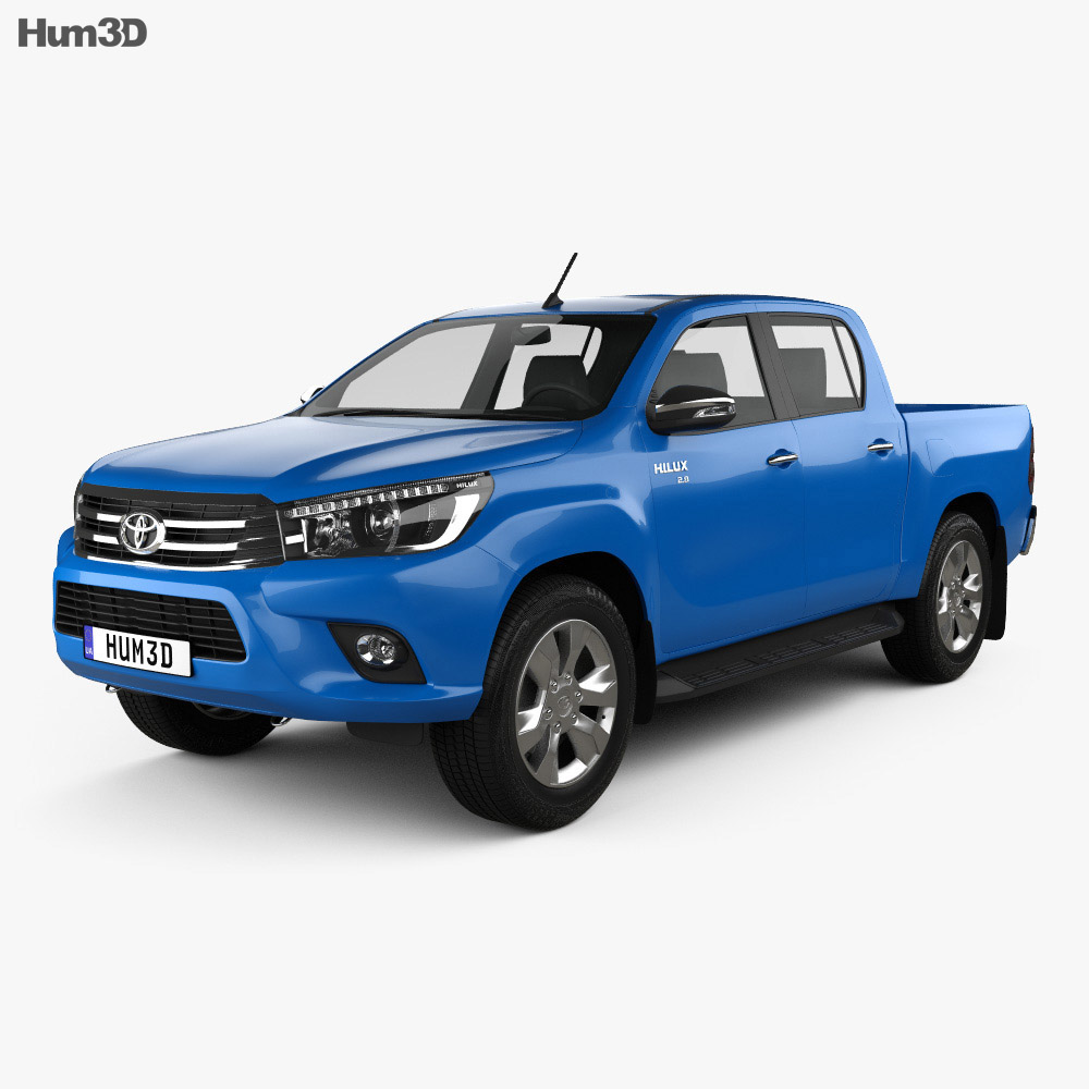 toyota hilux double cab revo 2015 3d model humster3d