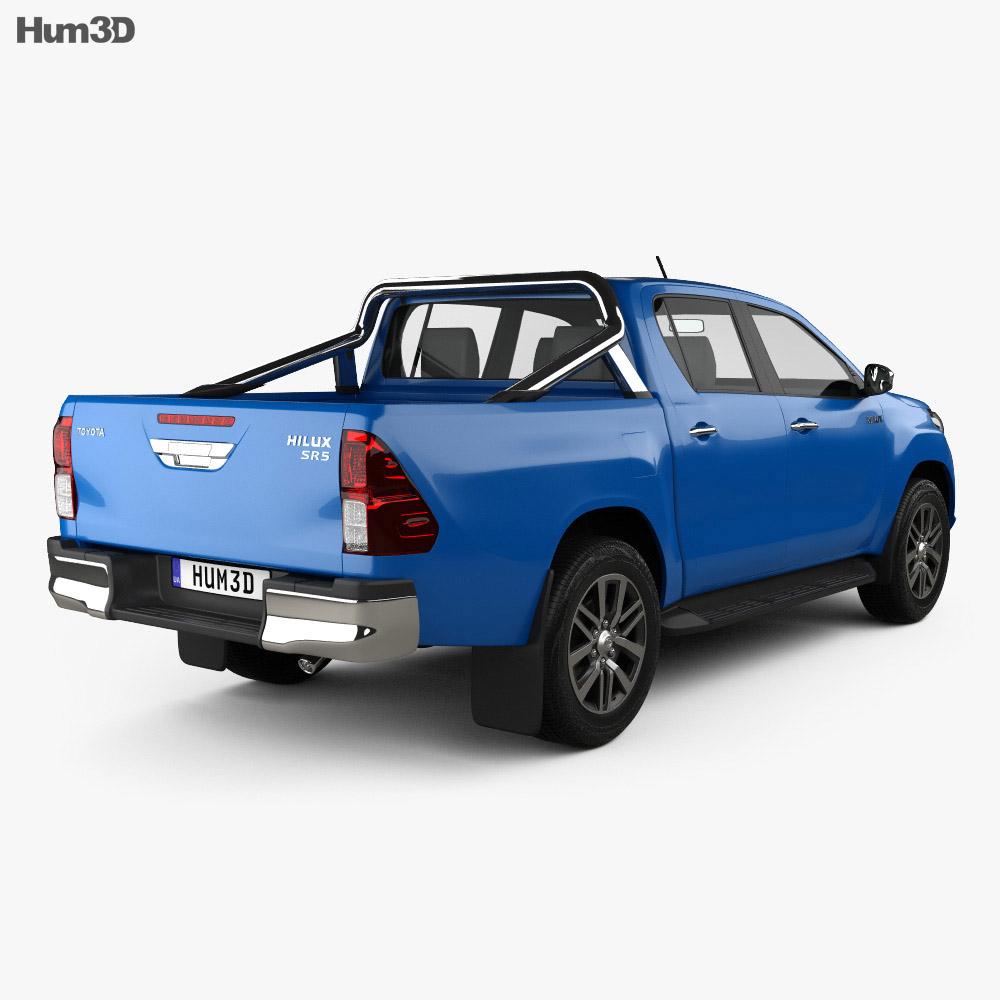 Toyota Hilux Double Cab SR5 2015 3d model