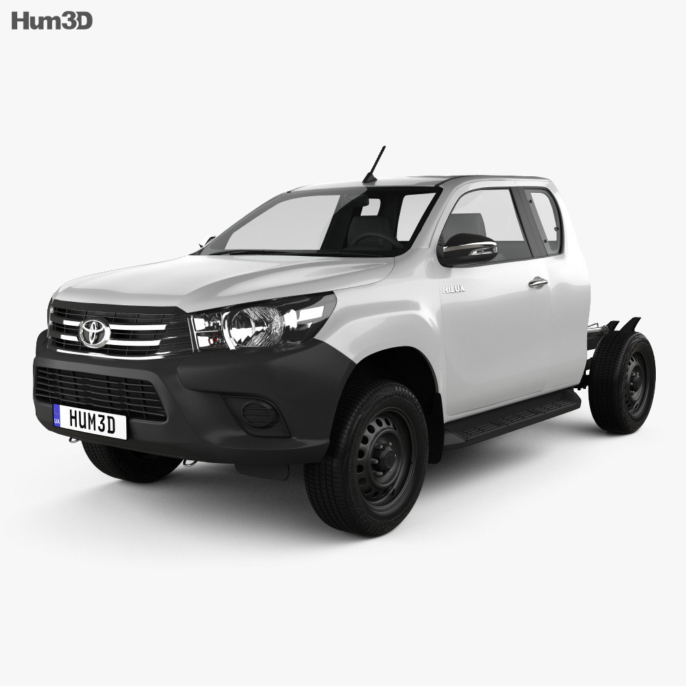 Toyota Hilux Extra Cab Chassis 2015 3d model