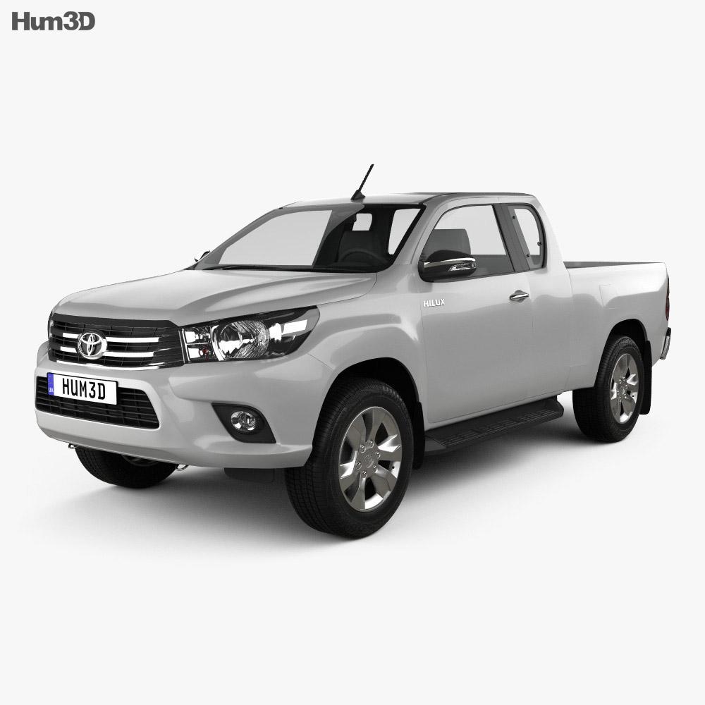 Toyota Hilux Extra Cab SR 2015 3d model