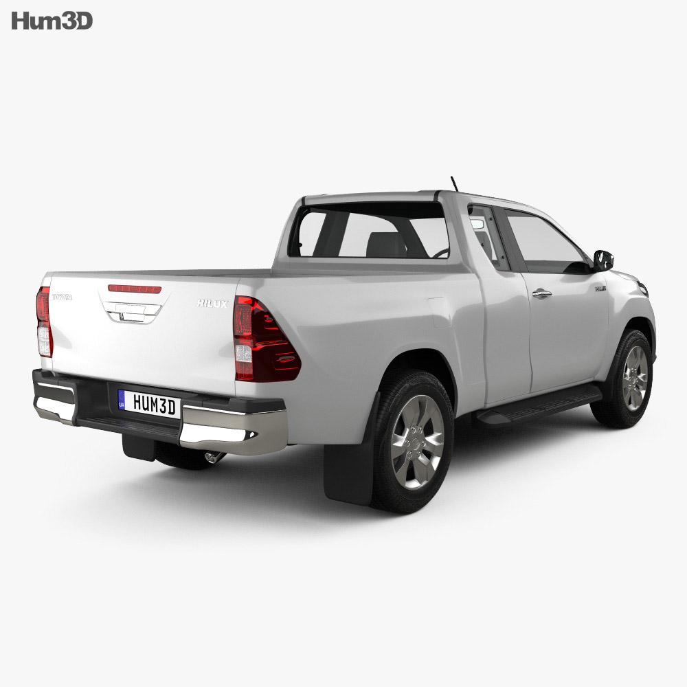 toyota hilux extra cab sr 2015 3d model humster3d. Black Bedroom Furniture Sets. Home Design Ideas