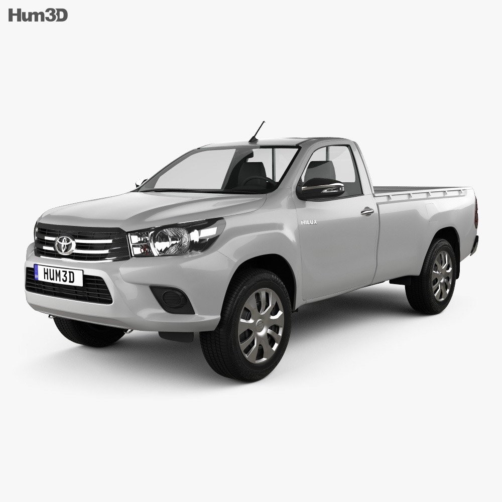 toyota hilux single cab sr 2015 3d model hum3d. Black Bedroom Furniture Sets. Home Design Ideas