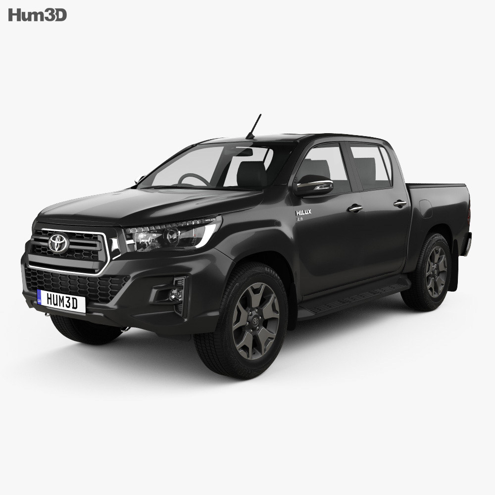 Toyota Hilux Double Cab L-edition 2019 3d model