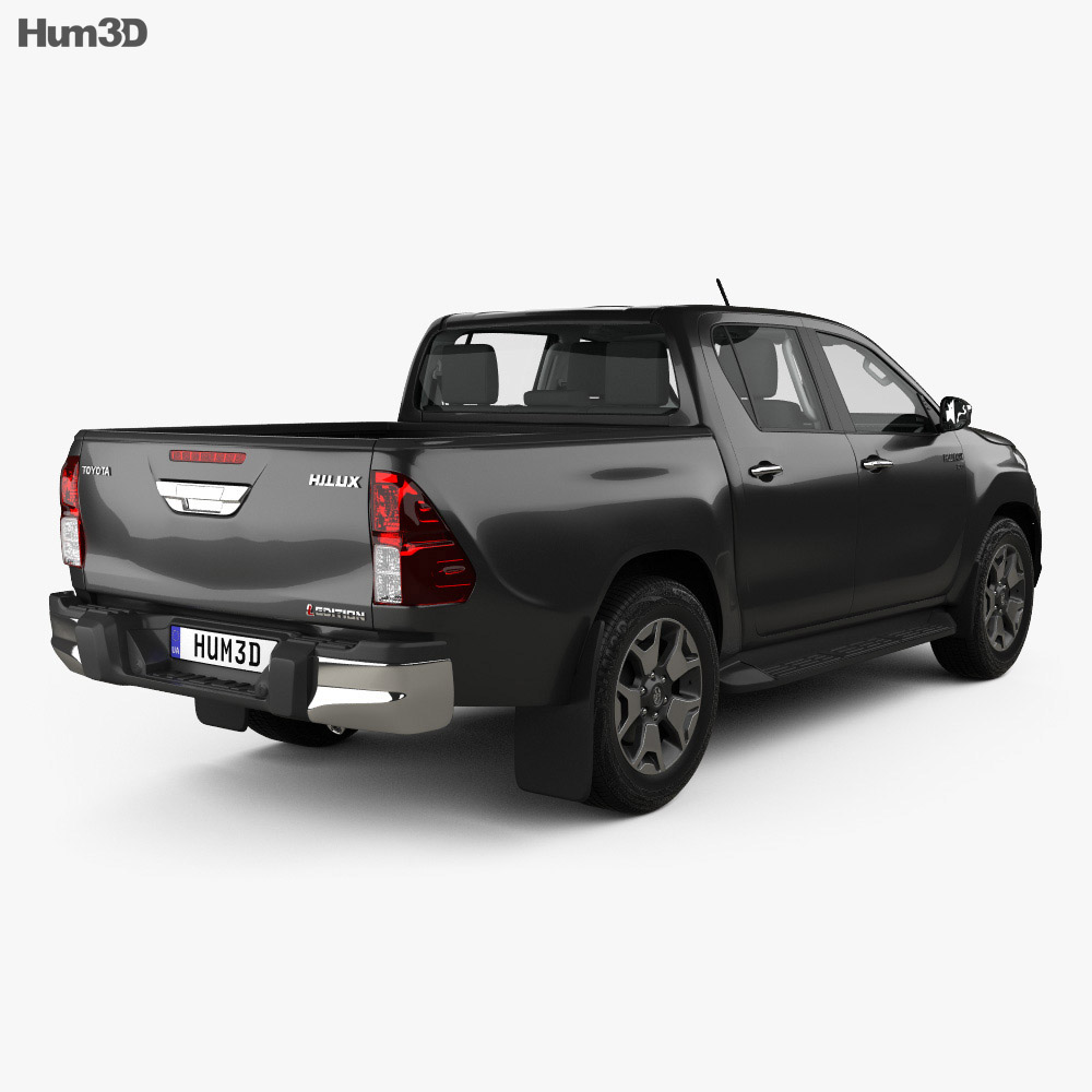 Toyota Hilux Double Cab L-edition with HQ interior 2019 3d model