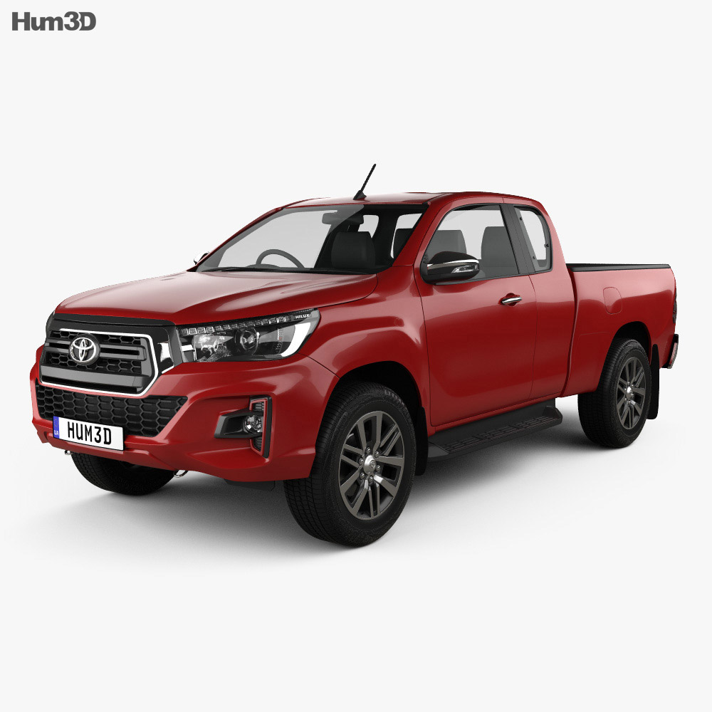 Toyota Hilux Extra Cab Raider 2019 3d model