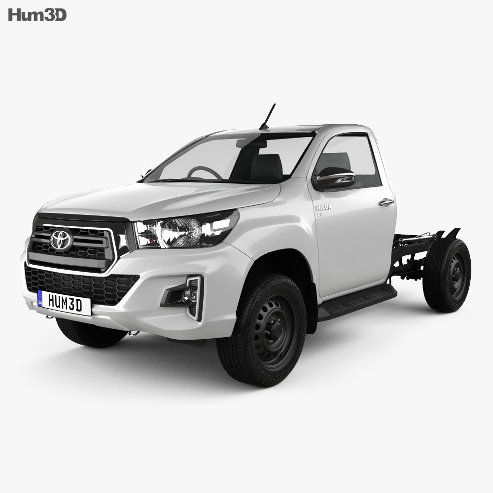 Toyota Hilux Single Cab Chassis SR 2019 3d model