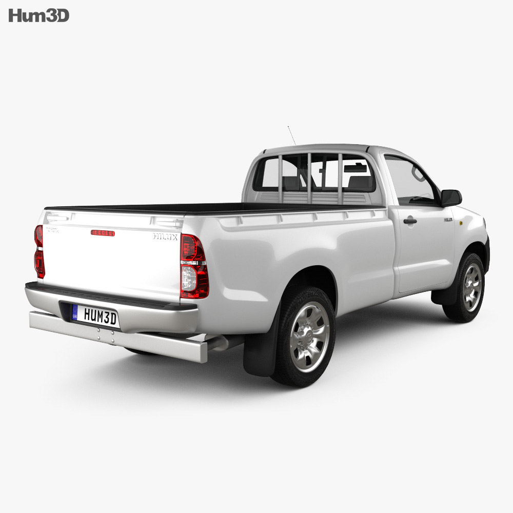 Toyota Hilux Regular Cab 2012 3d model