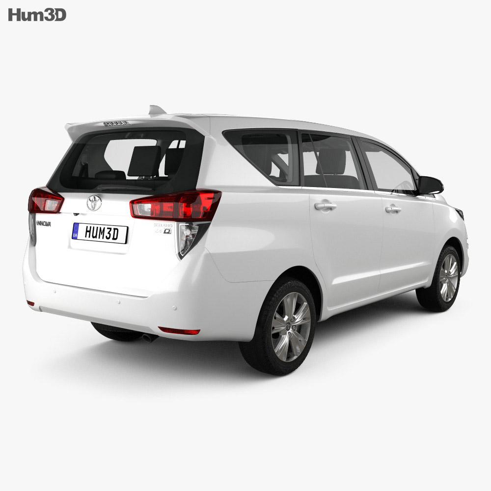 Toyota Innova with HQ interior 2016 3d model