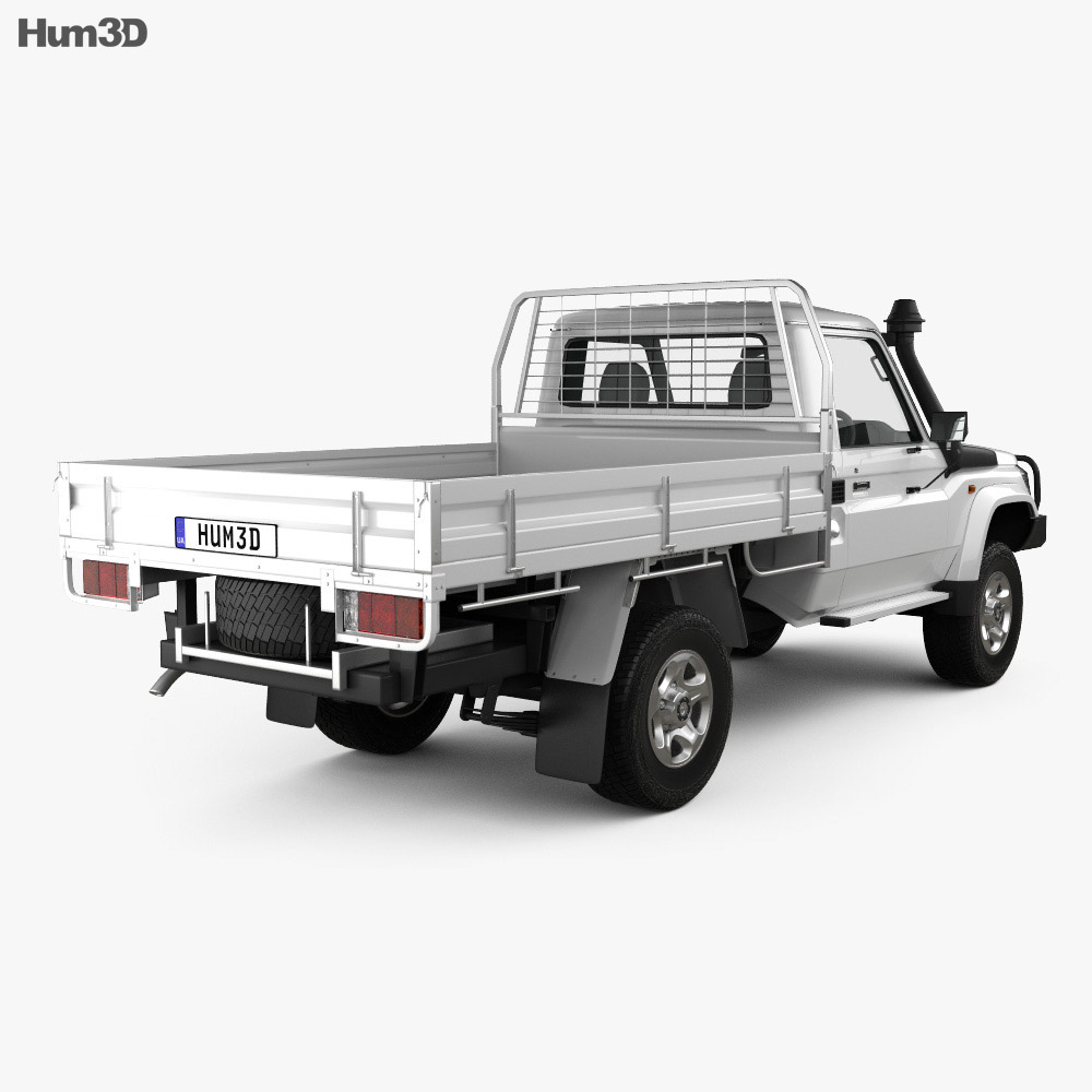 Toyota Land Cruiser (J70) Pickup GXL 2008 3d model