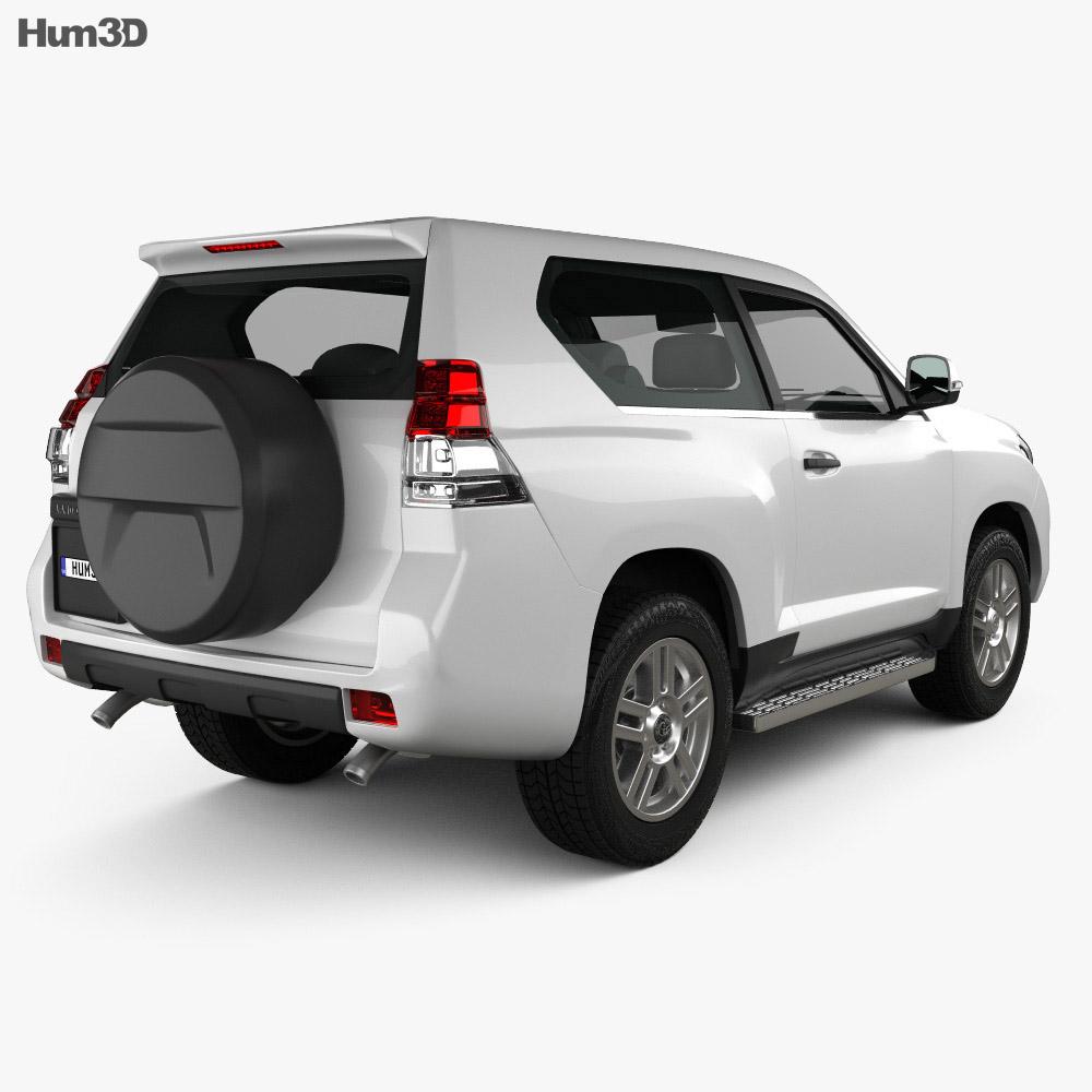 Toyota Land Cruiser Prado 3-door 2011 3d model