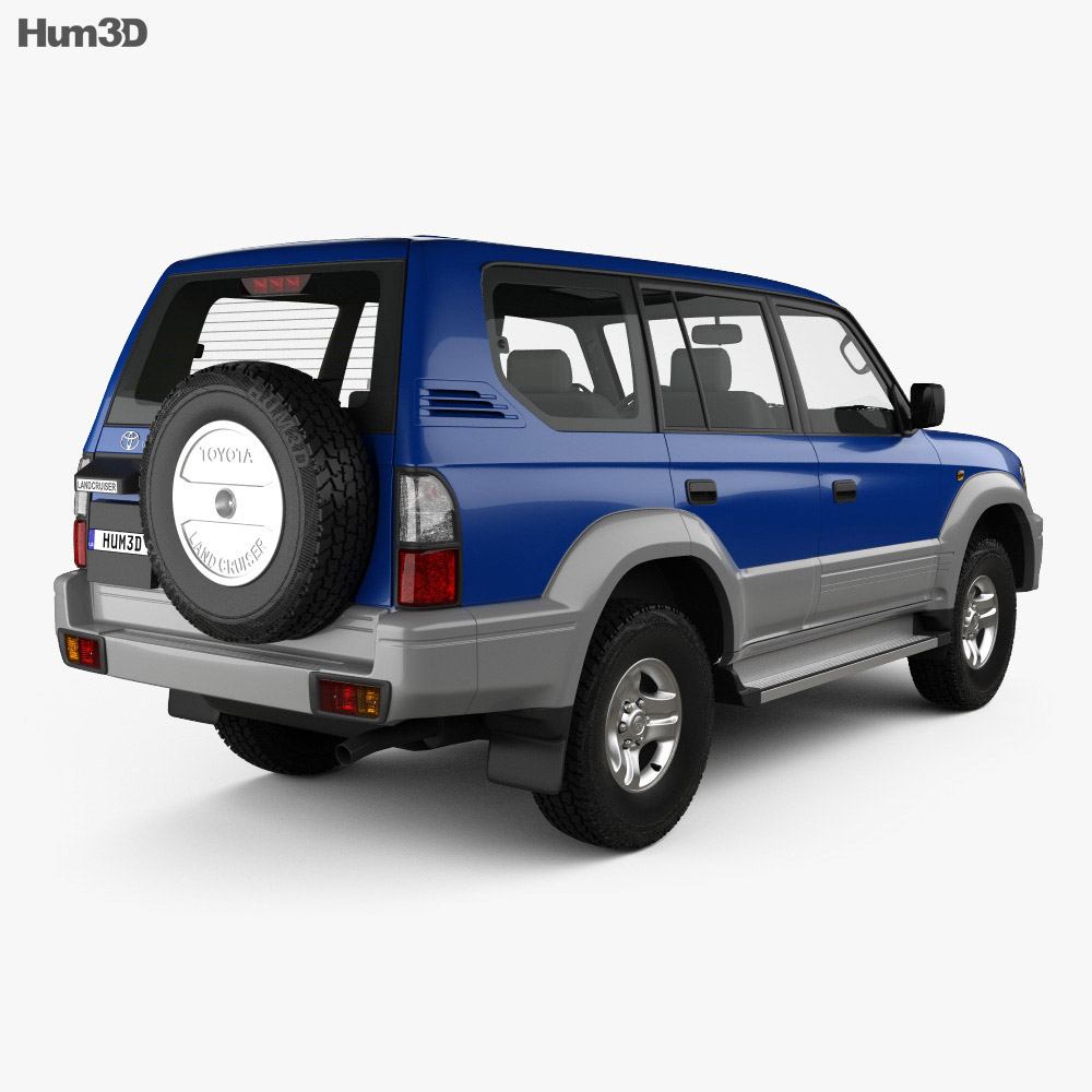Toyota Land Cruiser Prado 5-door 1999 3d model