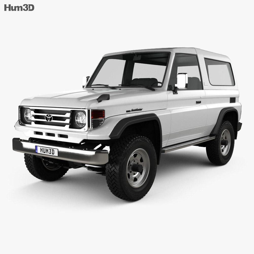 Toyota Land Cruiser J70 >> Toyota Land Cruiser J70 3 Door 1990 3d Model Vehicles On Hum3d