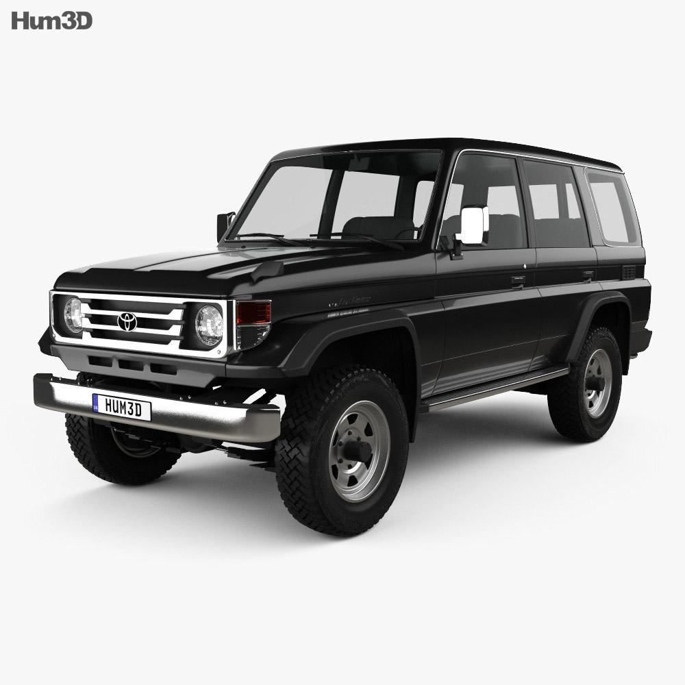 Toyota Land Cruiser J70 >> Toyota Land Cruiser J70 5 Door 1990 3d Model Vehicles On Hum3d