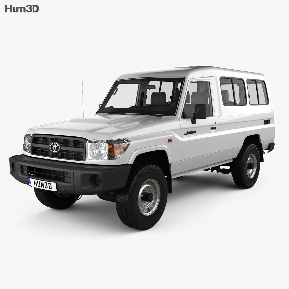 Toyota Land Cruiser (J78) Wagon with HQ interior 2010 3d model